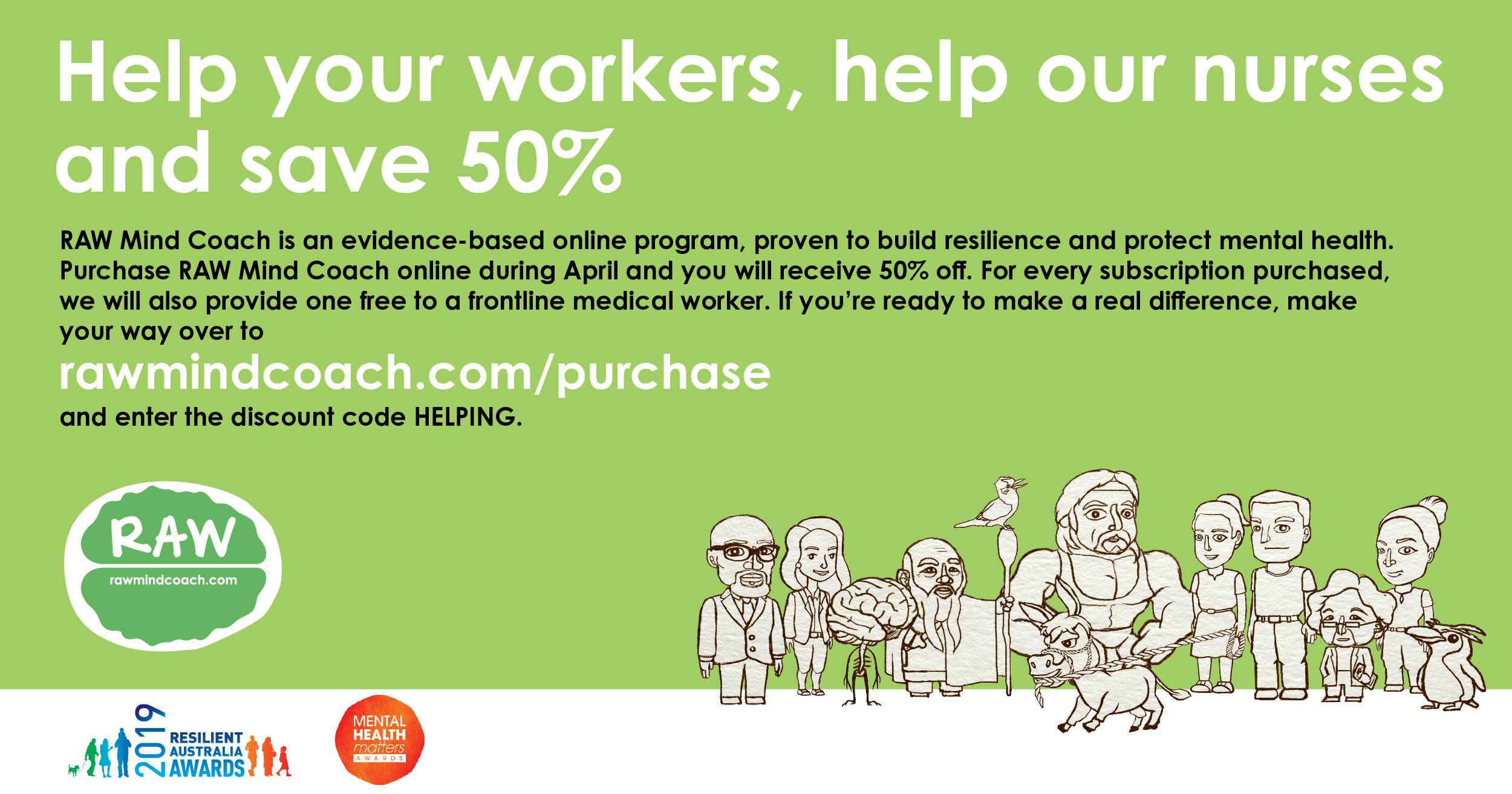 Help your workers, help our nurses and save 50%